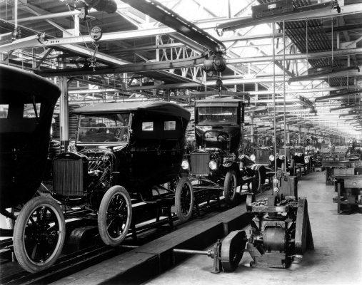 عکسی قدیمی از کمپانی فورد موتور